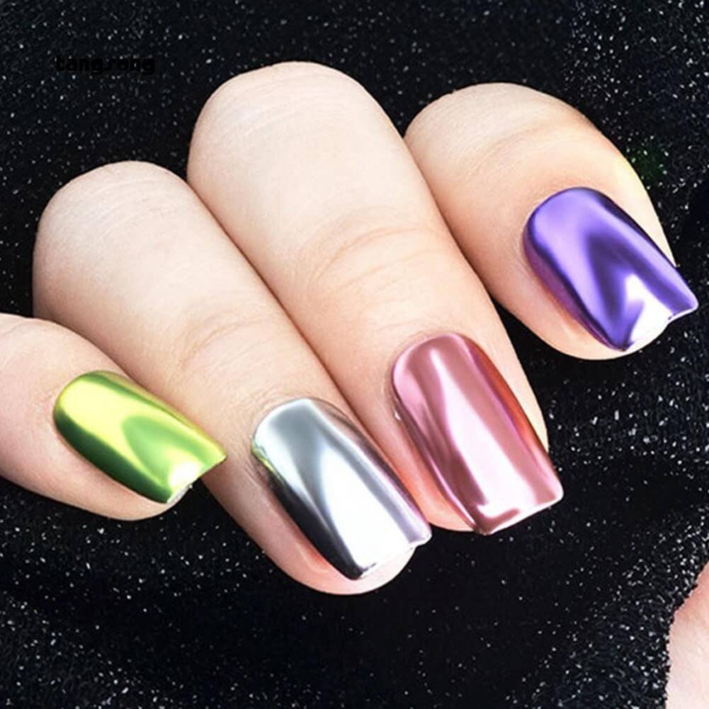 các mẫu nail tráng gương