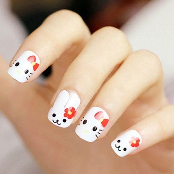 những mẫu nail đẹp đơn giản nhẹ nhàng