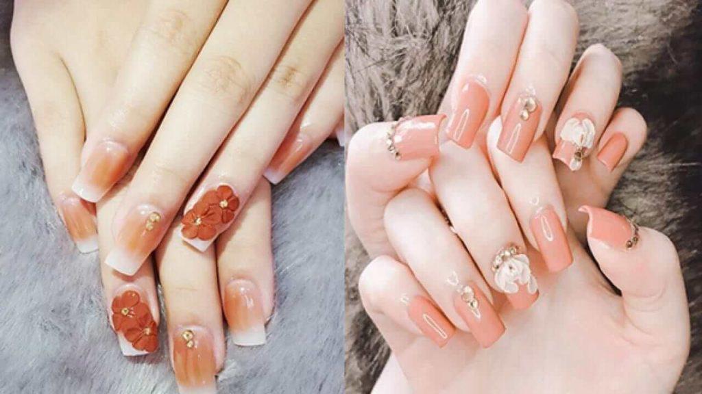 các mẫu nail đắp bột đẹp