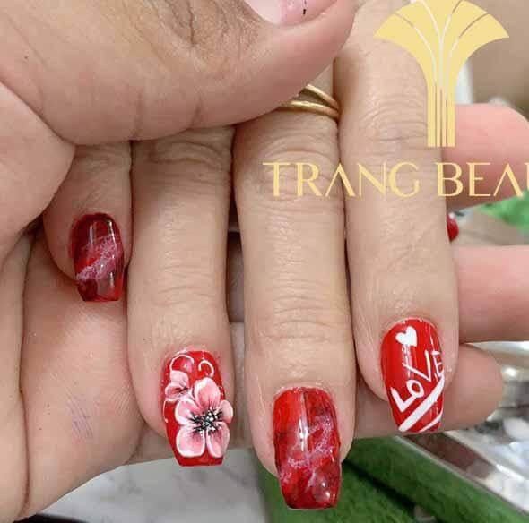nail vẽ hoa