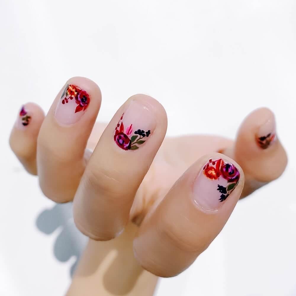 mẫu nail hoa nổi