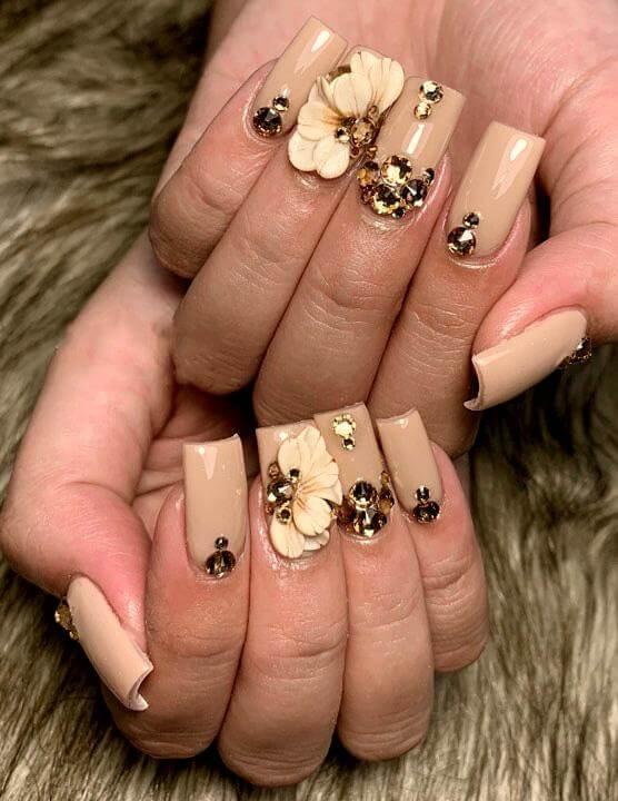 vẽ nail hoa