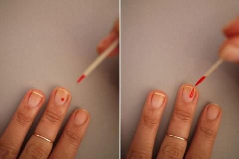 cách vẽ móng bằng tăm