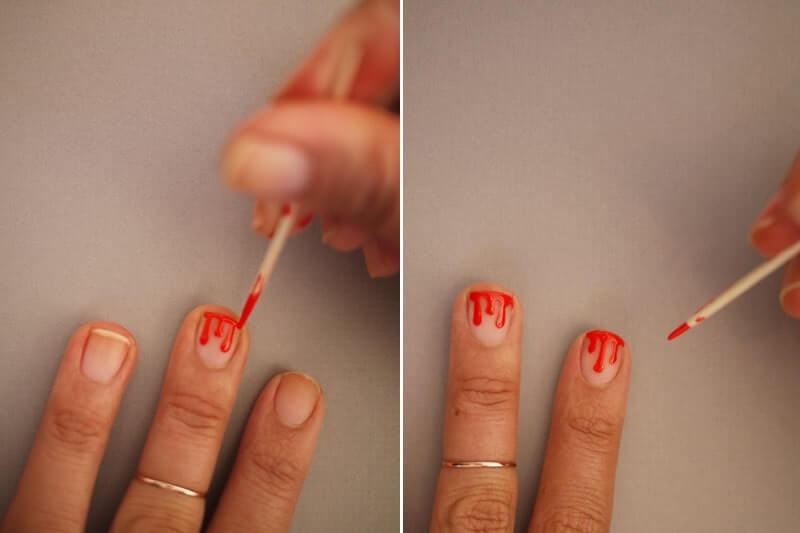 vẽ móng tay bằng tăm