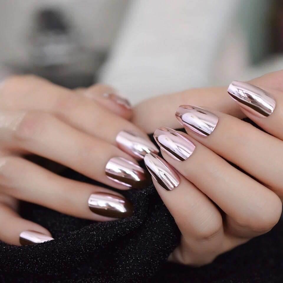 kỹ thuật vẽ nail tráng gương