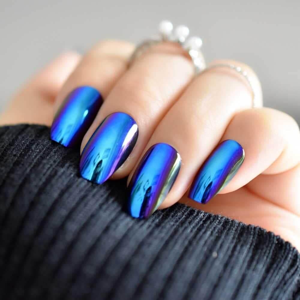 mẫu nail tráng gương đẹp