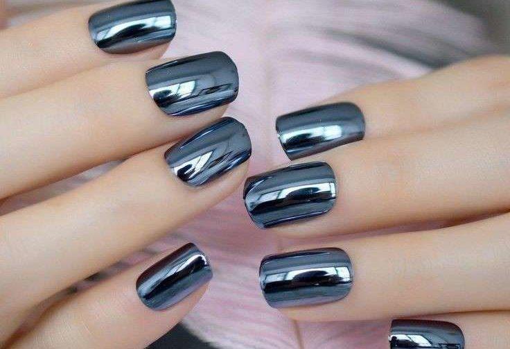 Mẫu nails metalic