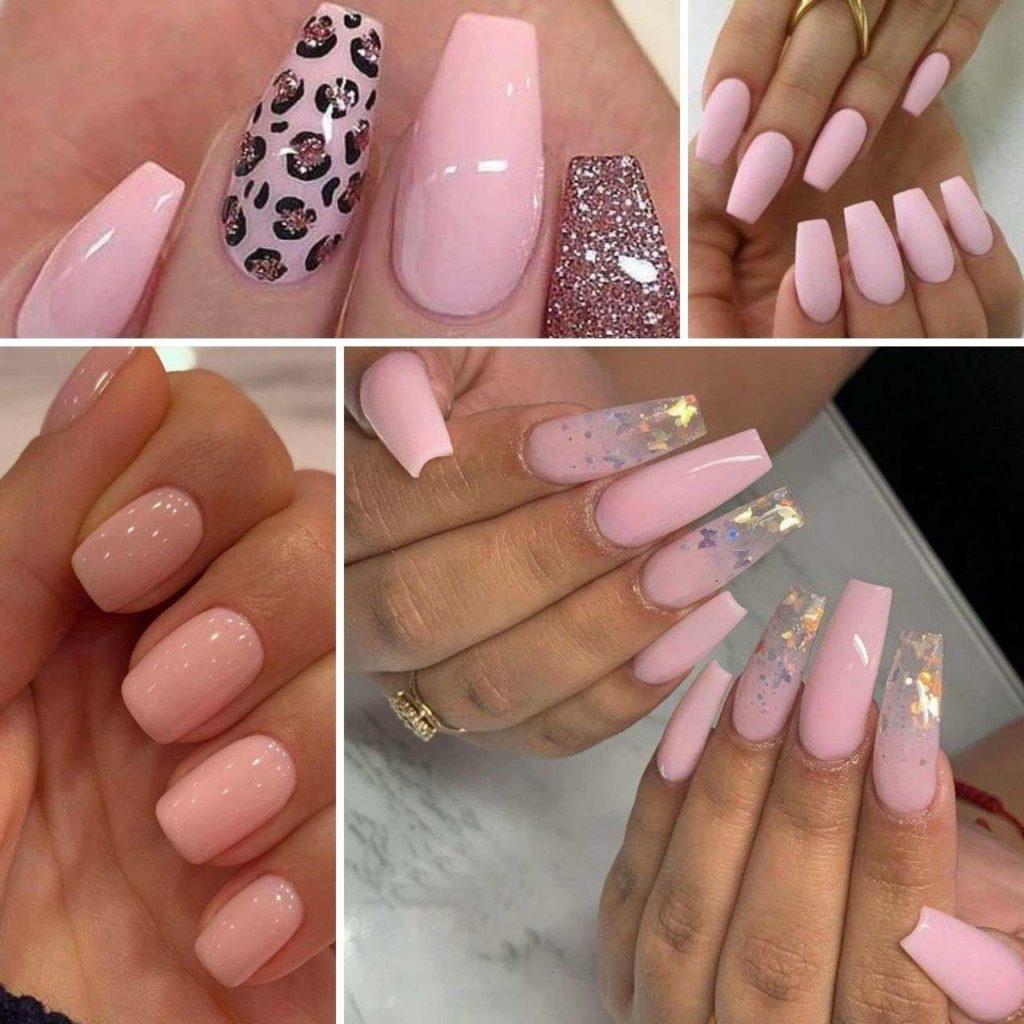 nails hồng pastel ngọt ngào